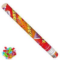 """(Цена за 12шт) Пневмохлопушка Stenson """"Прямоугольники бумажные"""" 40см, разноцветные, хлопушка, пневмо -"""
