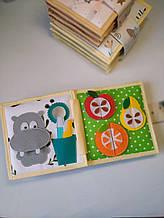 Книжечка-игрушка для детей 15*15 см развивающая ручной работы 16