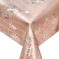 Клеенка ПВХ в рулоне Stenson МА-2181 тиснение c печатью, 1.37*20м, золото, клеенка столовая в рулонах, клеенка пвх, клеенка для стола, скатерти,