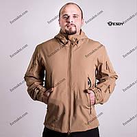 Тактическая Куртка Soft Shell ESDY TAC.-01 Coyote непромокаемая, фото 1