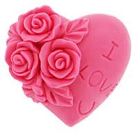 """Форма для мила Stenson """"Троянда"""" силіконова, розмір 7х7х3см, Авторські силіконові форми для мила, Силіконові форми для мила"""