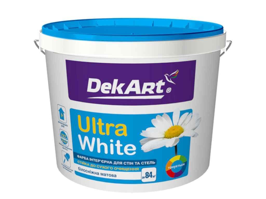 Фарба DekArt Ultra White інтерєрна біла матова 6,3кг.
