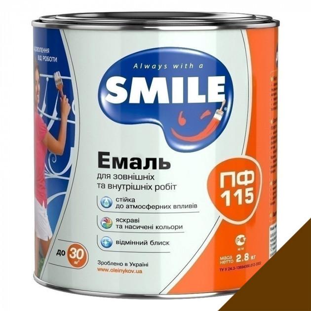 Фарба Smile ПФ-115 темно-коричнева 2,8кг