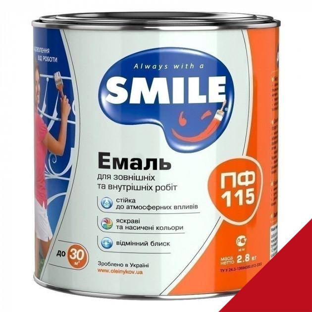 Фарба Smile ПФ-115 темно-вишнева 2,8кг