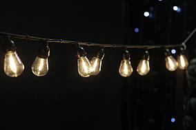 Cветодиодная ретро-гирлянда лампочки Lumion Filament Bulb String S14 4м 20 ламп цвет белый теплый