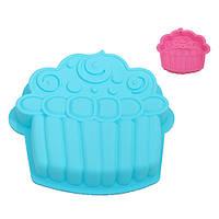 "Силиконовая форма для выпечки кексов ""Cake"" 26х24.5х4см, форма для выпечки, фигурная форма для кексов"