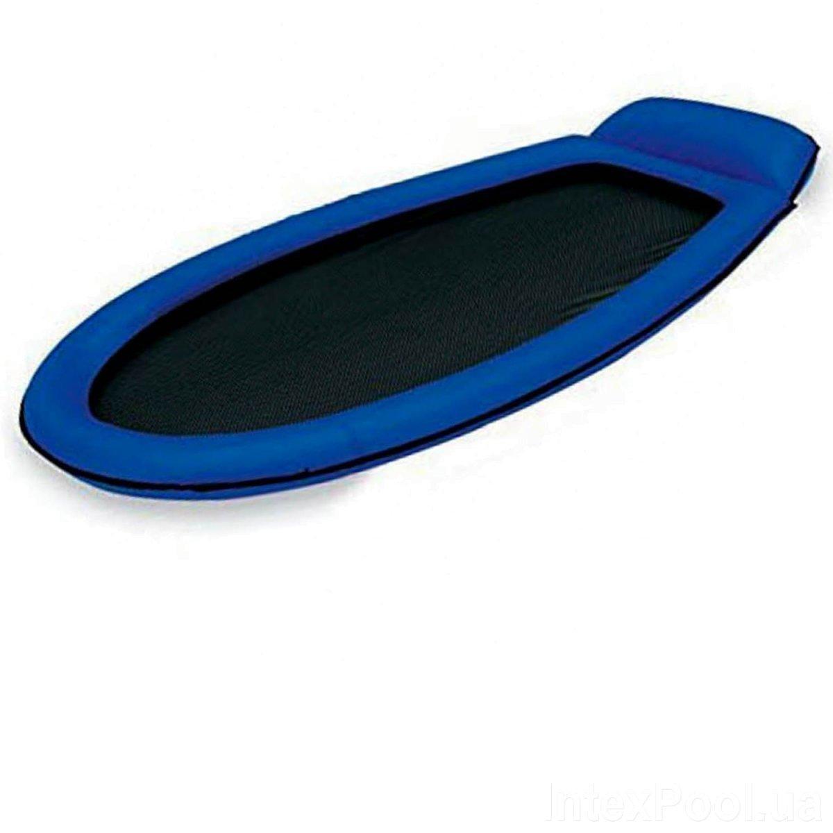 Гамак матрас для плаванья Пляжный надувной гамак Intex 58836, 178 х 94 см, синий