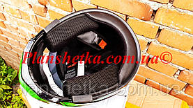 Шлем для мотоцикла F2-159 трансформер + очки черно-зеленый XS/S, фото 3