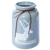 Ваза Sandpiper N00982 керамическая 25.5*d15см, керамическая ваза для цветов, вазочка для цветов, керамическая вазочка, вазы