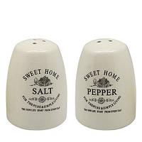 """Фарфоровый набор для специй Stenson """"Глазурь"""" соль/перец, размер 6,5х6,5х8см, фарфоровый набор для специй,"""