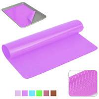 """Антипригарний килимок Stenson """"Пиріг"""" розмір 40x30 см, силікон, різні кольори, антипригарний килимок, килимок"""