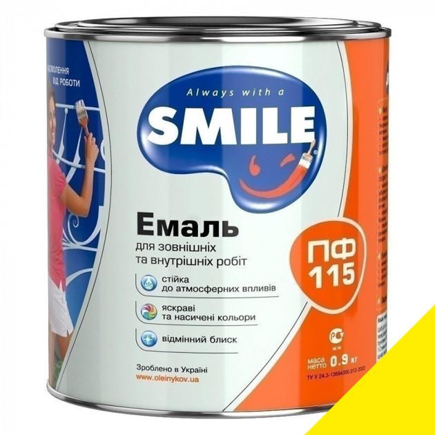 Фарба Smile ПФ-115 яскраво-жовта 0,9кг