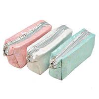 "Косметичка - органайзер на молнии ""Sun"" размер 14х10х8см, розовая/белая, полиэстер, сумка для косметики,"