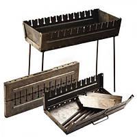 Мангал-чемодан УК-М12, на 12 шампуров, нержавеющая сталь, мангал раскладной, мангал складной, мангал с шампурами