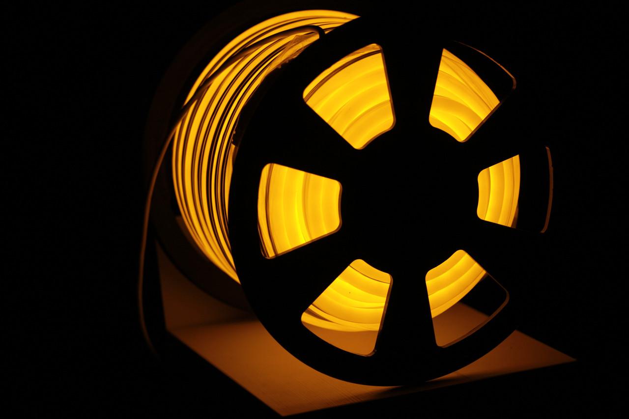 УУличный световой шнур Lumion 220V SMD NEON FLEX 15*26мм, 81 светодиода/м.п., 50м/ рул цвет желтый
