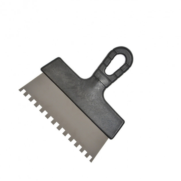 Шпатель нерж. з пл. ручкою 150мм зуб 8*8мм 0742.0516а/100155