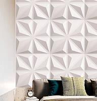 3d панели ПВХ (декоротивные обои, панели с обьемным рисунком) 50 на 50 см, 4д квадраты
