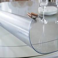 Прозрачная силиконовая скатерть на стол Soft Glass 1.0х1.3 м толщина 1.5 мм Мягкое стекло