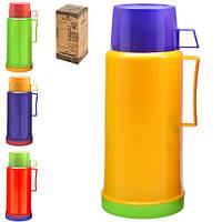 Термос DB215Х/2644-2 TONE пластик / стекло, 1.0л, разные цвета, термокружки, термос, термочашки, термос металлический, техника в кухню