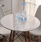 Прозрачная силиконовая скатерть на стол Soft Glass Защита для мебели 1.0х1.3 м Толщина 1.5 мм Мягкое стекло, фото 3