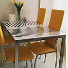 Прозрачная силиконовая скатерть на стол Soft Glass Защита для мебели 1.0х1.3 м Толщина 1.5 мм Мягкое стекло, фото 4