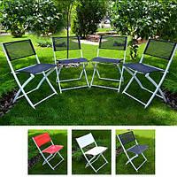 """Стілець розкладний Stenson """"Kiwi"""" розмір ш46*d52*в80см, зі спинкою, різні кольори, метал/текстиль, стілець, складні меблі, стілець складаний, крісло"""