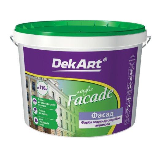 Фарба DekArt Facade біла матова 14кг.