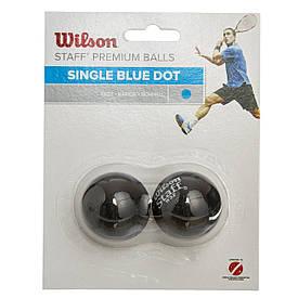 Мяч для сквоша WILSON (2шт) (синяя точка, быстрый мяч) WRT617500
