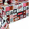 """Клеенка ПВХ в рулоне """"DEKORAMA"""" размер 1,4х20м, с принтом, клеенка в рулонах, скатерти клеенка, клеенка ПВХ"""