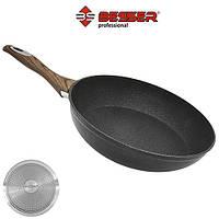"Сковорода Besser ""Wooden"" індукційне дно, 28см, алюміній, пательня, сковорода алюмініва, сковорідки"