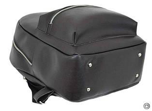 Жіночий міський рюкзак Case 655 чорний шоколад, фото 3