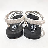 36,37,38,39 р. Жіночі босоніжки, сандалі літні білі з сріблом, фото 7