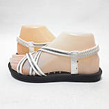 36,37,38,39 р. Жіночі босоніжки, сандалі літні білі з сріблом, фото 5