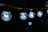 Cветодиодная ретро-гирлянда лампочки Lumion Galaxy Bulb String 10м 30 ламп наружная цвет белый холод., фото 1