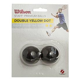 Мячик для сквоша WILSON (2шт) (сверхмедленный, 2 желтые точки) WRT617600