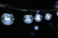 Cветодиодная ретро-гирлянда лампочки Lumion Galaxy Bulb String 10м 20 ламп наружная цвет белый холод., фото 1