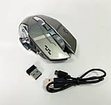 Мышь аккумуляторная беспроводная бесшумная для геймеров с подсветкой ACETECH CH001, фото 2
