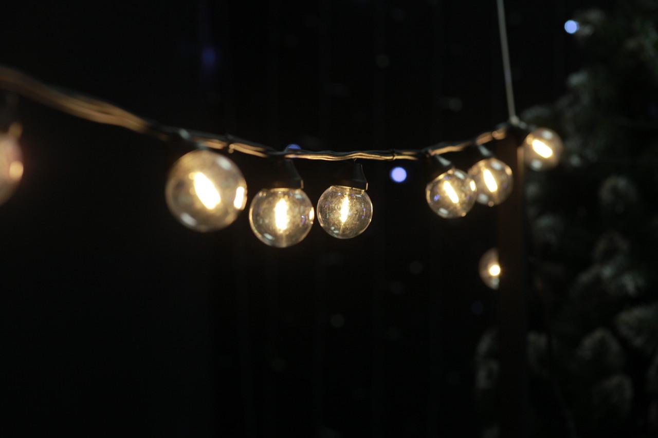 Cветодиодная ретро-гирлянда лампочки Lumion Galaxy Bulb String 10м 50 ламп наружная цвет белый теплый