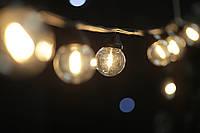 Cветодиодная ретро-гирлянда лампочки Lumion Galaxy Bulb String 10м 30 ламп наружная цвет белый теплый, фото 1