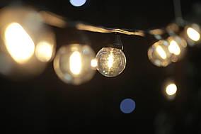 Cветодиодная ретро-гирлянда лампочки Lumion Galaxy Bulb String 10м 30 ламп наружная цвет белый теплый