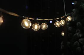 Cветодиодная ретро-гирлянда лампочки Lumion Galaxy Bulb String 10м 20 ламп наружная цвет белый теплый