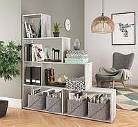 Стеллаж для книг, игрушек и цветов, стеллаж для зонирования комнаты P0002 (цвет бетон)