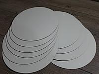Подложка под торт круг белая. Усиленная подложка для торта 32 см