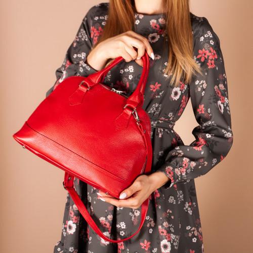 Женская сумка с ручками и плечевым ремнем, натуральная  кожа. Пошив в любом цвете под заказ.