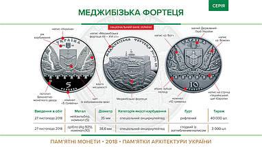 Меджибізька фортеця монета 5 гривень, фото 3