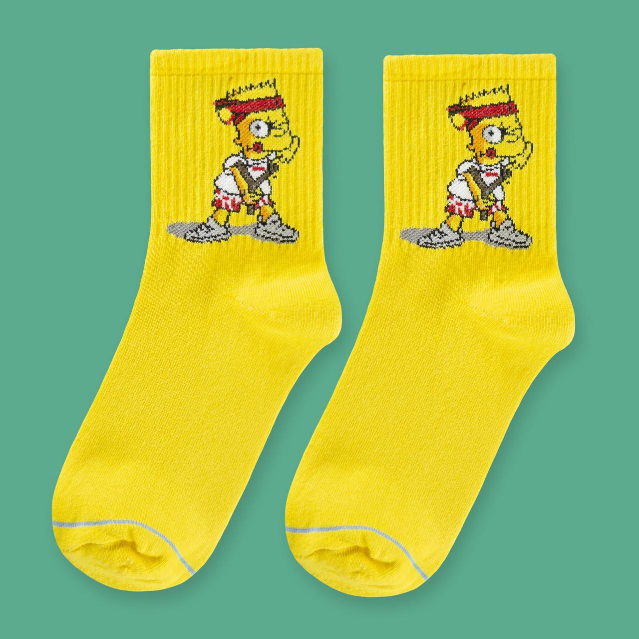 """Шкарпетки жовті з принтом """"Simpsons"""""""