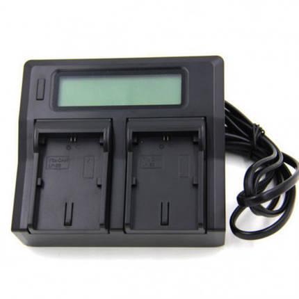 Зарядное устройство Kingma для Canon LP-E6 Dual Charger LCD, фото 2