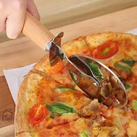 Ніж для піци з дерев'яною ручкою 6,5 см діаметр