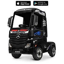 Детский электромобиль-фура- грузовик Mercedes-Benz Actros M 4208EBLR-2 Черный