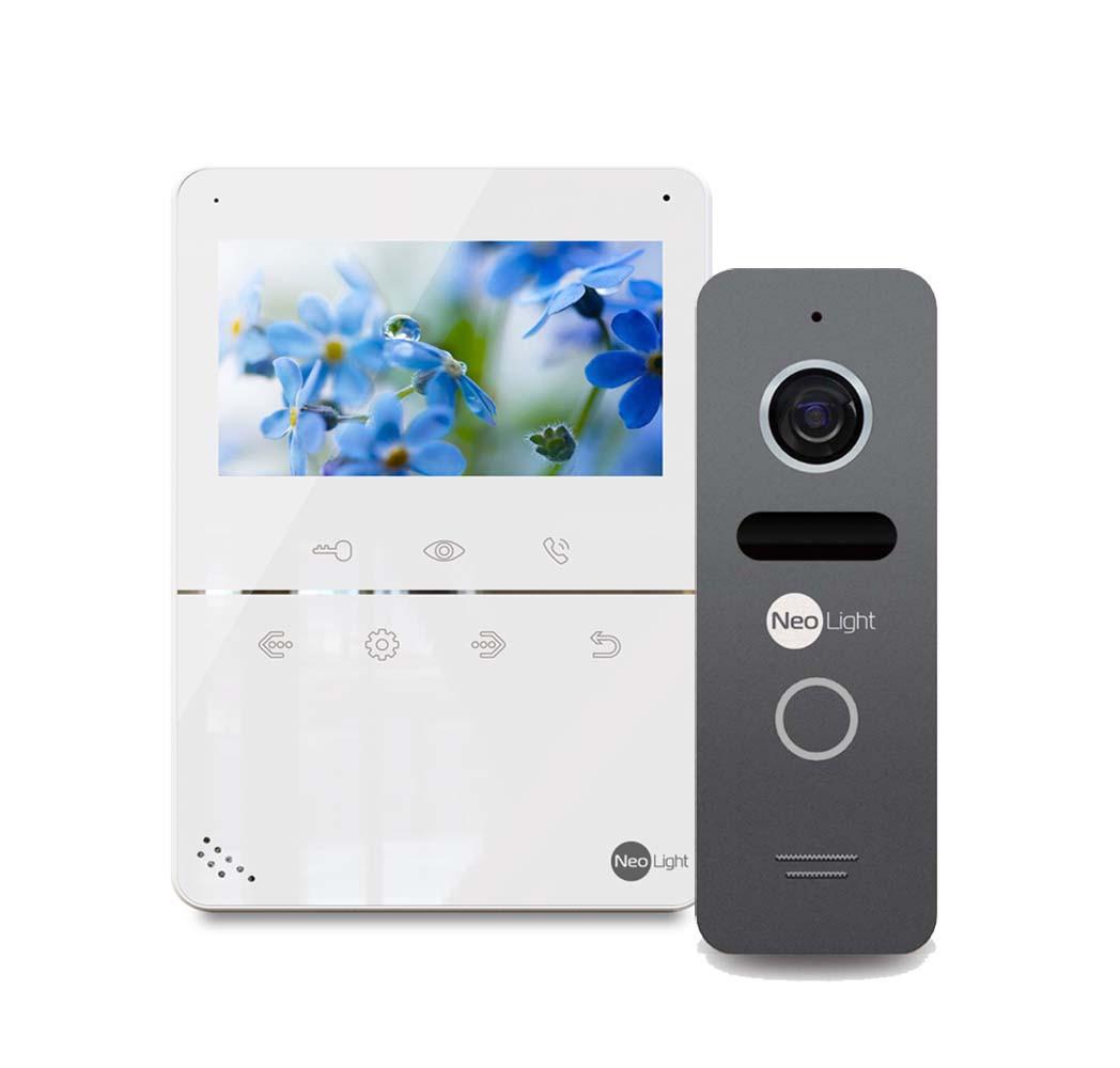 Комплект відеодомофона NeoLight Tetta і NeoLight Solo Graphite
